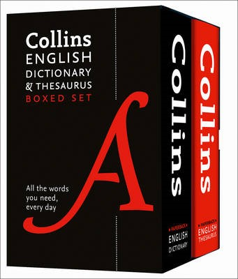 Collins English Dictionary and Thesaurus Boxed Set - pr_350456