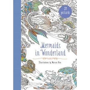 Mermaids in Wonderland 20 Postcards