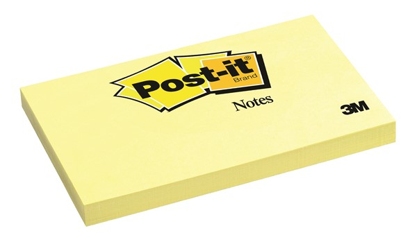 3M Post-It Notes Classic 655 73 x 123mm Yellow 100 Sheets - pr_1702181