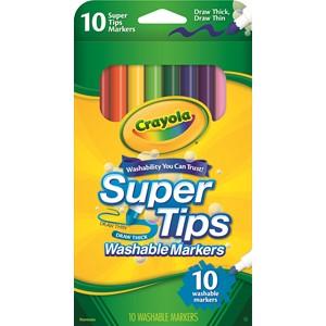 Crayola Felt Pens Super Washable 10 Pack