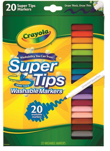 Crayola Felt Pens Super Washable 20 Pack - pr_400398