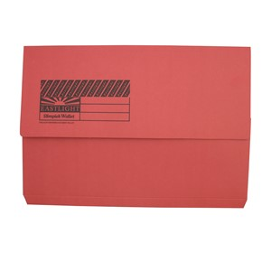 Eastlight Document Wallet Foolscap Red