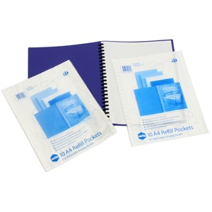 Marbig Display Book Refills Clear 10 Pockets
