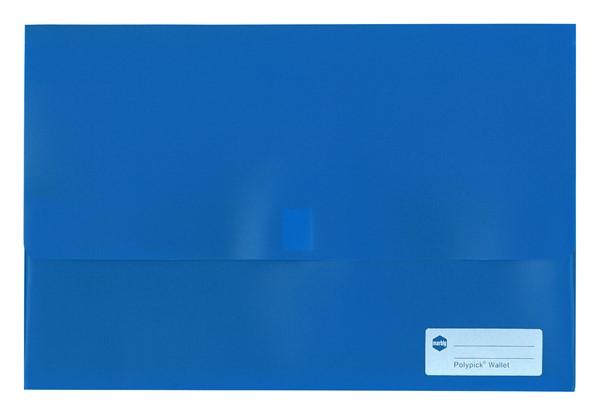 Marbig Polypick Foolscap Document Wallet A4 Solid Blue - pr_1702307