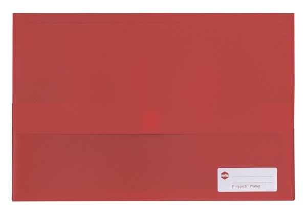 Marbig Polypick Foolscap Document Wallet A4 Solid Red - pr_1702389