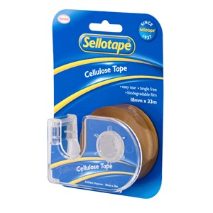Sellotape Tape Cellulose 18mmx33m With Dispenser