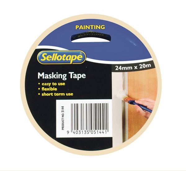 Sellotape Masking Tape Premium 24mm X 20m - pr_400414