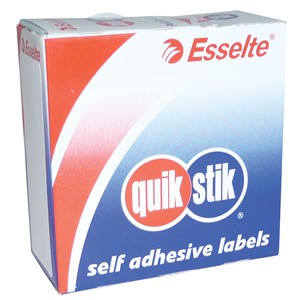 Quik Stik Rectangle Labels 29x76mm White, Pack of 180