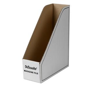 Esselte Magazine File Cardboard White