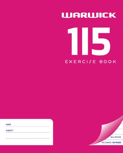 Warwick Exercise Book 1I5 255x205mm 9mm Ruled 40 Pages - pr_400467