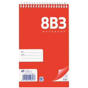 Notebook Warw 8B3 Spiral 7mm Ruled 50lf