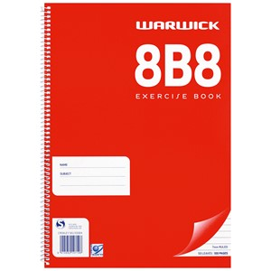 Warwick Notebook 8B8 A4 Spiral 7mm 50lf