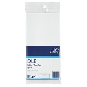 Croxley Envelopes DLE Seal Easi Non Window White Pack 100