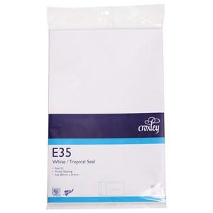 Croxley Envelopes E35 Tropical Seal Non Window White Pack 25