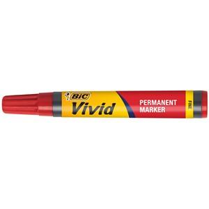 Bic Marker Permanent Fine Stephens Vivid Red