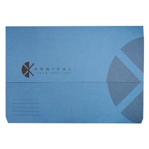 Eastlight Karnival Document Wallet Foolscap Cobalt Blue