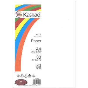 Kaskad Paper A4 80gsm White Smooth Pack 30