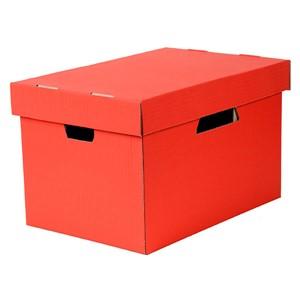 Esselte Archive Storage Box & Lid Red