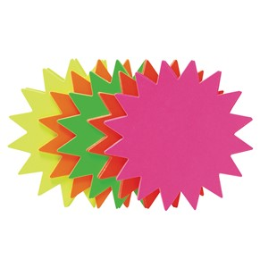 Fluoro Stars 105mm Assorted Pack 25
