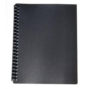 Marbig Display Book Refillable A4 20 Pockets Black