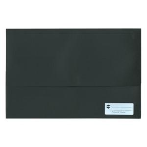 Marbig Polypick Foolscap Document Wallet A4 Solid Black