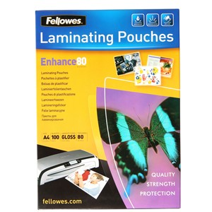 Fellowes Laminating Pouch A4 80 Micron Pack 100