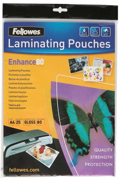 Fellowes Laminating Pouch A4 80 Micron Pack 25 - pr_400703