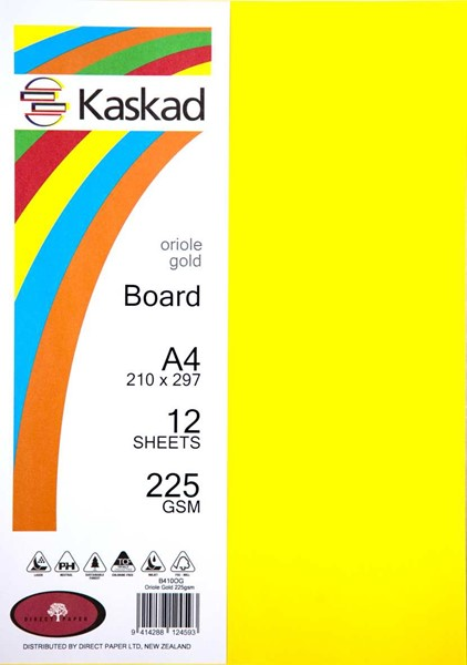 Kaskad Board A4 225gsm Oriole Gold Pack 12 - pr_1702280
