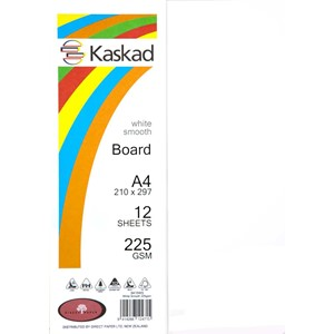 Kaskad Board A4 225gsm White Smooth Pack 12