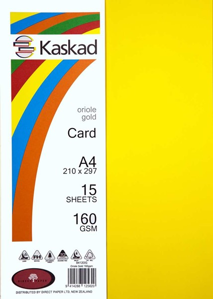 Kaskad Card A4 160gsm Oriole Gold Pack 15 - pr_1702446