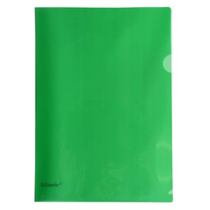 Esselte A4 L-Shaped Pockets Green 12 Pack