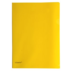 Esselte A4 L-Shaped Pockets Yellow 12 Pack