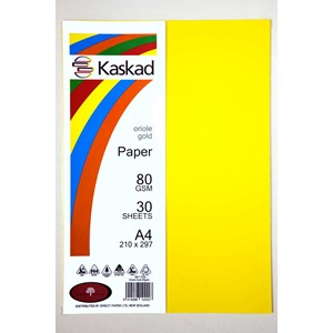 Kaskad Paper A4 80gsm Oriole Gold Pack 30