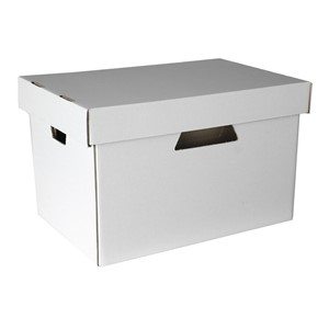 Esselte Archive Storage Box & Lid White