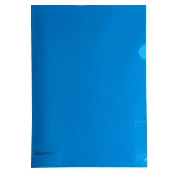 Esselte L-Shaped Pockets Heavy Duty A4 Blue, Pack of 12 - pr_1702577
