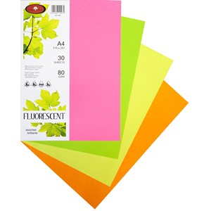 Kaskad Paper A4 80gsm Assorted Brilliants Pack 30
