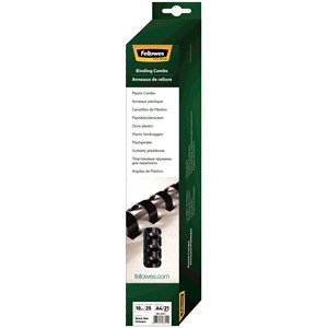 Fellowes Plastic Binding Combs 10mm Pack 25