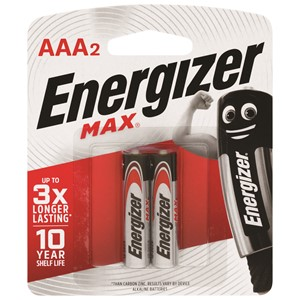Energizer Battery Max AAA Pack 2