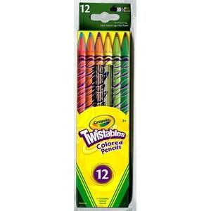 Crayola Coloured Pencils Twistable 12 Pack