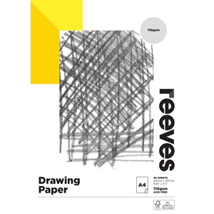 Reeves Drawing Pad 110gsm A4 50 Sheets
