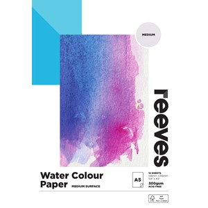Reeves Watercolour Pad 300gsm A5 Cold Pressed 12 Sheets