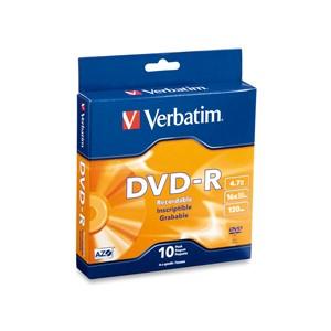 Verbatim DVD-R 4.7GB Spindle 16x 10pk
