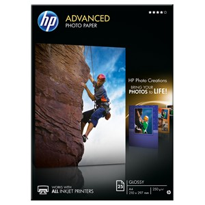 HP Photo Paper Advanced A4 Q5456A 250gsm Pack 25