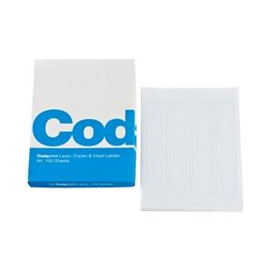 Codafile Print Labels A4 25mm Sheet  25