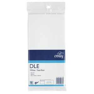 Croxley Envelopes DLE Seal Easi Non Window White Pack 20