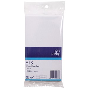 Croxley Envelopes E13 Seal Easi Non Window White Pack 50