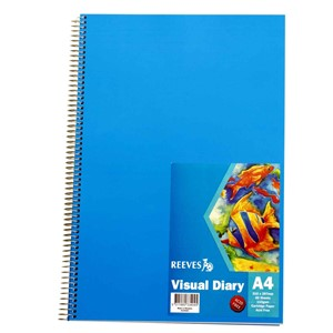 Reeves Visual Diary A4 110gsm 60 Sheet Blue