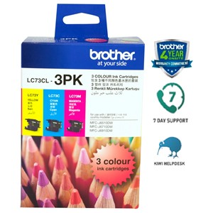 Brother Ink Cartridge LC73 Colour 3 Pack