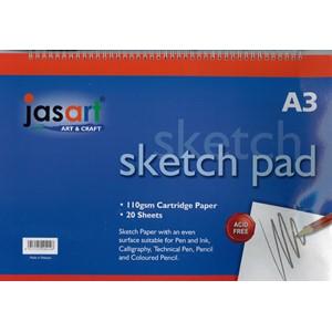 Jasart Sketch Pad Spiral A3 20 Sheet