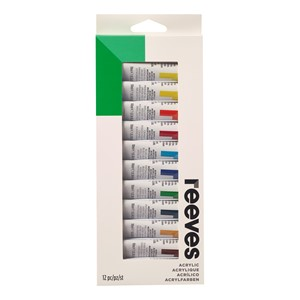 Reeves Paint Acrylic 10ml Set 12